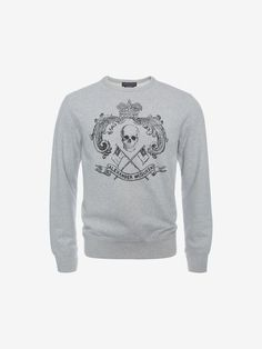 Shop Men's Organic Skull Crest Sweatshirt from the official online store of iconic fashion designer Alexander McQueen.
