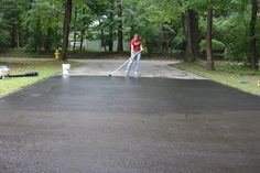 Add curb appeal to your home by repairing cracks and resealing your driveway.