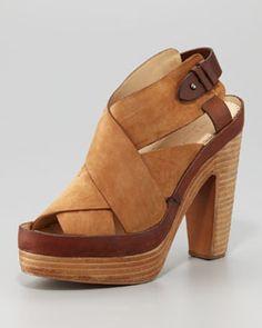 Rag & Bone Sloane Nubuck Platform Sandal