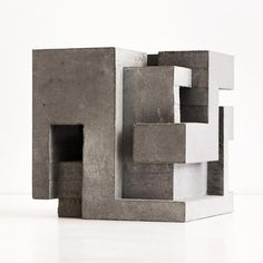 Cubic Geometry ix-vi / 2 Concrete sculpture 9 x 9 x 9 in Edition of 3 #brutalism #contemporarysculpture #contemporaryart #artchitecture #concrete