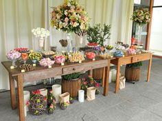 organização de mesas para festa no estilo rustico - Pesquisa Google