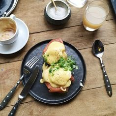 Eggs Benedict at The Lobby. The Lobby's breakfast menu offers something for everyone but the Eggs Benedict really take it up a notch.