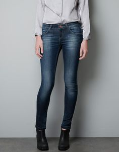 DARK WASH SKINNY JEANS - Trousers - Woman - New collection - ZARA