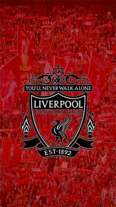Liverpool Football Club, Liverpool Fc, Liverpool Wallpapers, You'll Never Walk Alone, Red Background, Juventus Logo, Wallpaper Backgrounds, Sports, Table
