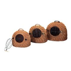 Wicker Cat Carrier Bed - Probably a lot more comforting for our cat babies