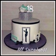 Audrey Hepburn birthday cake. Made by All Sweetness