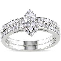 Miadora 10k Gold 1/2ct TDW Diamond Bridal Ring Set