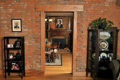 """The """"1848"""" over the doorway in """"The Room of the Past"""" signifies when the original portion of the home was built. Through the doorway is the dining room, also called """"The Room of the Future."""" The Harshbargers worked on President Obama's election campaign."""