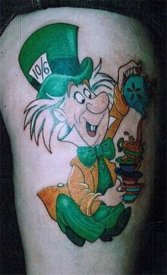 cartoon character tattoos | ... with Alice in Wonderland Tattoos « Tattoo Articles « Ratta Tattoo