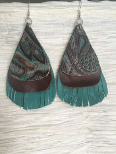 Leather Earrings #1011