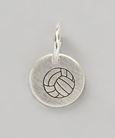 Another great find on #zulily! Sterling Silver Volleyball Charm by Five Little Birds by Littlefield Lane #zulilyfinds
