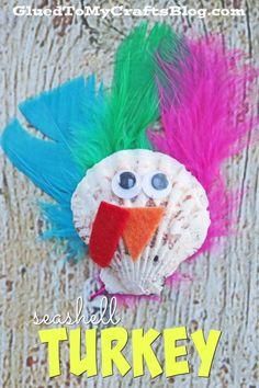 Seashell Turkey - Kid Craft