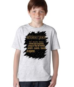Retorno de Jesus Heroe Versiculo Biblia Camiseta Cristiana Kids