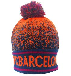 c173ab2d0d2 FC Barcelona Winter Hat Beanie- Official Barcelona Beanie Orange Navy -  C7186MYM8GS