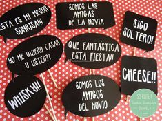 Could use these in an activity to practice! Wedding Dj, Chic Wedding, Wedding Details, Dream Wedding, Party Mode, Ideas Para Fiestas, Party Props, Party Printables, Wedding Designs
