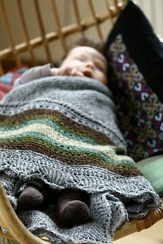 Hansel pattern by Gudrun Johnston - like how this hap shawl can double as a blankie for baby and shawl for Mom