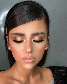 30 Spellbinding Bridesmaid Makeup For Every Woman ❤ bridesmaid makeup gold bronze eyeshadows nude matte lips bar_ohayon Soft Wedding Makeup, Wedding Makeup Artist, Hair And Makeup Artist, Bridal Makeup, Makeup Inspo, Makeup Inspiration, Makeup Tips, Makeup Ideas, Kinky Twists