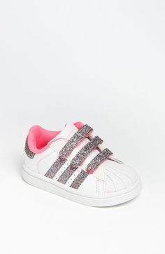 Free shipping and returns on adidas 'Sparkle Superstar 2' Sneaker (Baby, Walker & Toddler) at Nordstrom.com. Pearlized leather perfects the sparkle of a glittery sneaker with signature stripes.