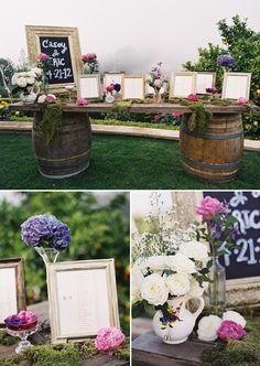 escort table wedding ideas