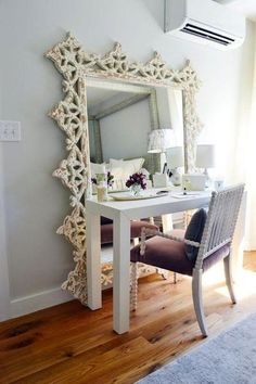 Use mirrors to add depth to your room.: