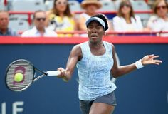 Tennis - Venus Williams joins sister Serena into Rogers Cup semifinals in Montreal, after beating Carla Suarez Navarro in three sets. Montreal, Venus, Hockey, Sport Tennis, Tennis Racket, Football Players, Affair, Sports, American