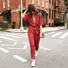 """128.6k Likes, 324 Comments - Urban Outfitters (@urbanoutfitters) on Instagram: """"Brunch looks in the UO Bezel Print Wrap Belted Jumpsuit - SKU #43569755. #UOonYou"""""""