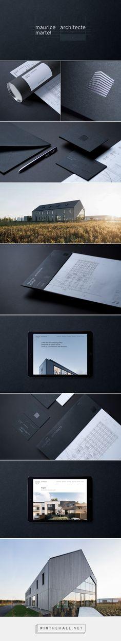 Architect Maurice Martel identity on Behance. Visual identity, branding, modern, minimal, simple, dark, sophisticated.