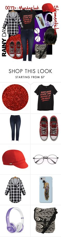"""""""OOTD: Monday"""" by slromanticlove ❤ liked on Polyvore featuring Melissa McCarthy Seven7, Converse, Betmar, Beats by Dr. Dre, Pilot and plus size clothing"""