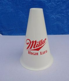 Vtg 1987 Miller High Life Plastic Megaphone