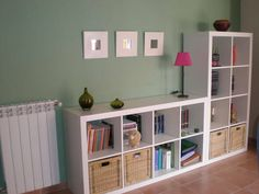 Strategies The IKEA Kallax line Storage furniture is an important part of any home. Navy Living Rooms, New Living Room, Home And Living, Ikea Inspiration, Ikea Regal Expedit, Kids Room Organization, Aesthetic Room Decor, Girl Room, Bedroom Decor