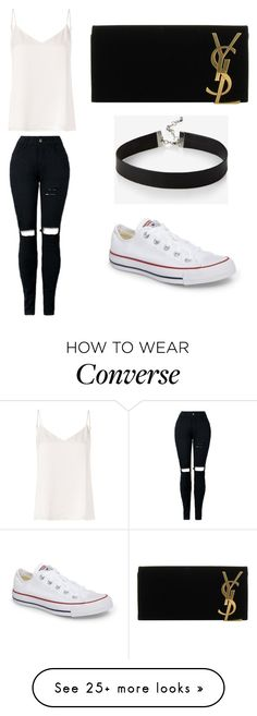 """Untitled #303"" by itsghita on Polyvore featuring L'Agence, Converse, Express and Yves Saint Laurent"
