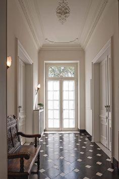 Halls and walls Design Entrée, Floor Design, House Design, Home Living, Living Spaces, Luxury Living, Interior Architecture, Interior And Exterior, Interior Decorating