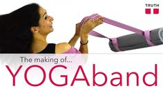 Check out how the Truth Belts YOGAband is made. It's a fun, bright way to carry your yoga mat and it doubles as a stretching band. #vegan www.truthbelts.com