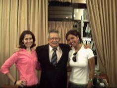 A jornalista Flávia Almas, Maurício Âzedo (Presidente da ABI) e Mariana Miceli. — com Flávia Almas, Maurício Âzedo e Mariana Micceli.