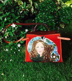 Hand painted Hermes herbag by artist love Marie aka heart Evangelista Escudero… Painted Bags, Hand Painted, Heart Evangelista, Luxury Purses, Textiles, Art Bag, Handmade Handbags, Filipina, Diy Canvas