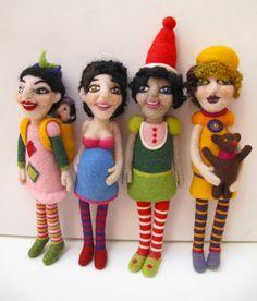 Needle felted dolls