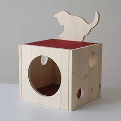 Domček pre mačku, z drevenej smrekovej škárovky, 3.