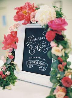 wedding signs,wedding welcome sign,wedding details,Garden Wedding Ideas: Coral and Raspberry Wedding Colours Palette,coral wedding palette,raspberry wedding color,Spring wedding colors ideas,coral wedding color