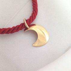ciondolo luna in oro 18 kt  - 18 k gold moon pendant #luna #moon #pendant #charm #gioielleriacentrooro #gioielli #store #ebay #gioielli #oro18kt #gold18kt #ciondoliinoro