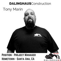 This week's first #MeetTheTeamMonday post introduces Tony Marin!!  Tony is a fantastic leader, and one of Dalinghaus' more experienced Project Managers.  He is currently working on a soft-story seismic retrofit project in Los Angeles, and has overseen many of our team's #FoundationRepair projects.  When he isn't managing a Dalinghaus project Tony loves to spend time with his family and friends, especially off-roading and fishing.  Tony's also an avid hunter, and loves to bow hunt!  Tony's…