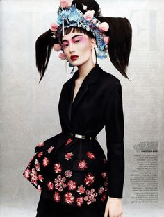 Shu Pei by Jason Kibbler Vogue Russia April 2013
