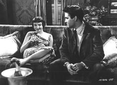 """King Creole"" Carolyn Jones and Elvis Presley - ""For those who appreciate film noir, the textures of bitter dames and lost loves, mistakes made and heartless thugs are all finely woven in King Creole. Little wonder that it was whatshisname's favorite film."""