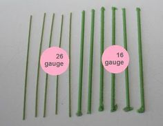 Tortova  January 21  Floral wire can generally be found in gauge 16 – 32. I find that use 18 – 24 most frequently.     16, 18: heavy flowers with many petals such as roses, ranunculus, peonies    20, 22: stem work    24: medium flowers, single-cut larger flowers    26: small flowers (individual hydrangea petals, jasmine), petals (such as rose petals)    28: small petals, leaves    30, 32: fine work, such as baby's breath and small leaves    TORTOVA FACEBOOK PAGE