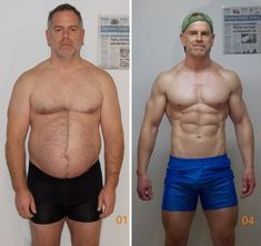 Matt Manning before and after the 3 month competition. (Bodybuilding.com)