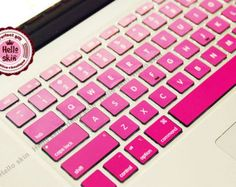 Pink gradient Keyboard-Decal MacBook Macbook Keyboard Decal/Macbook Pro Keyboard Skin/Macbook Air Sticker/Macbook vinyl sticker