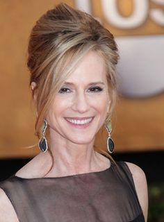 Mother Of The Bride Hairstyles | Holly Hunter wearing a elegant updo hairstyle while attending the 16th ...