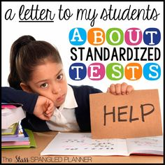 The Starr Spangled Planner: A Letter To My Students About Standardized Testing