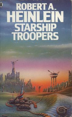 Starship Troopers by Robert A. Heinlein.  This is the original book; the movies with the same title were pure trash and had little to do with Heinlein's books.