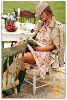 Весенний гардероб: резиновые сапоги