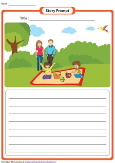 Stimulate thought process with these story writing prompts worksheets featuring attractive picture prompts and themes for kids of grades 1 through Free Reading Comprehension Worksheets, Picture Comprehension, Writing Practice Worksheets, Grammar Worksheets, English Grammar For Kids, English Worksheets For Kids, English Lessons For Kids, Picture Story Writing, Picture Writing Prompts